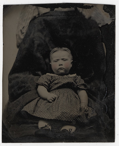 "Tintype of a Baby Girl with a ""Hidden Mother"" 