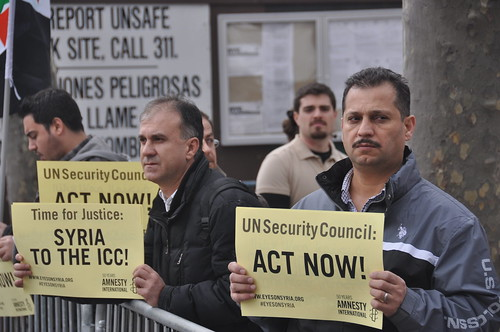 Rally at the U.N. Headquarters for Security Council action on Syria | by Science for Human Rights