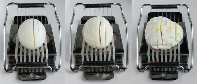 Makkelijk een ei klein snijden voor eiersalade