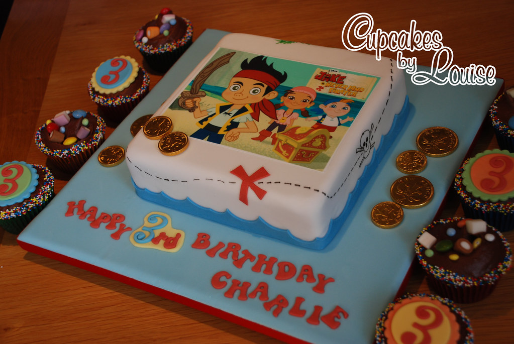 Jake And Neverland Pirates Cake And Cupcakes Louise M