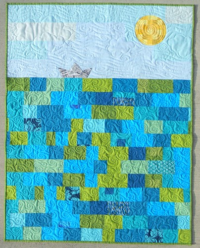 Deep Blue Sea, Baby Quilt | by teaginny