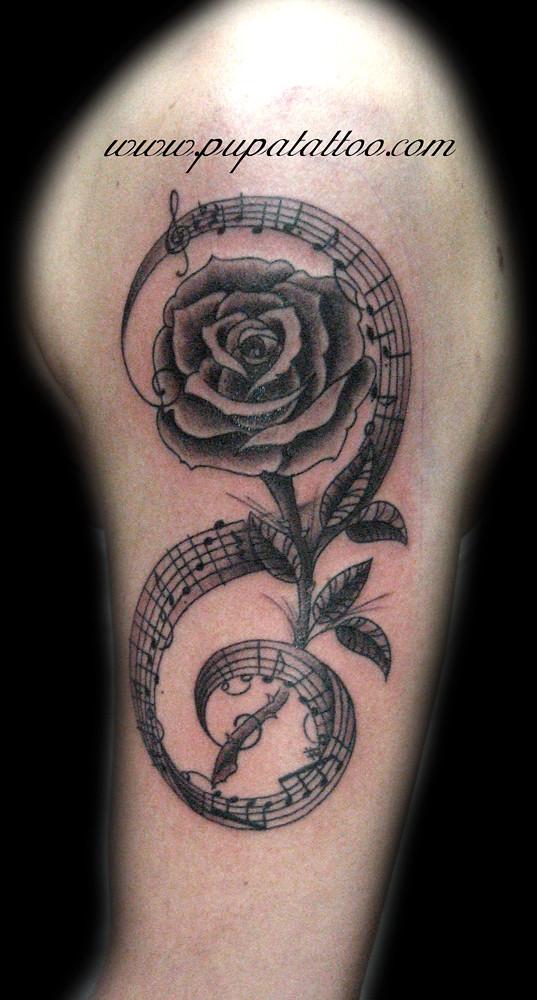 Tatuaje Notas Musicales y