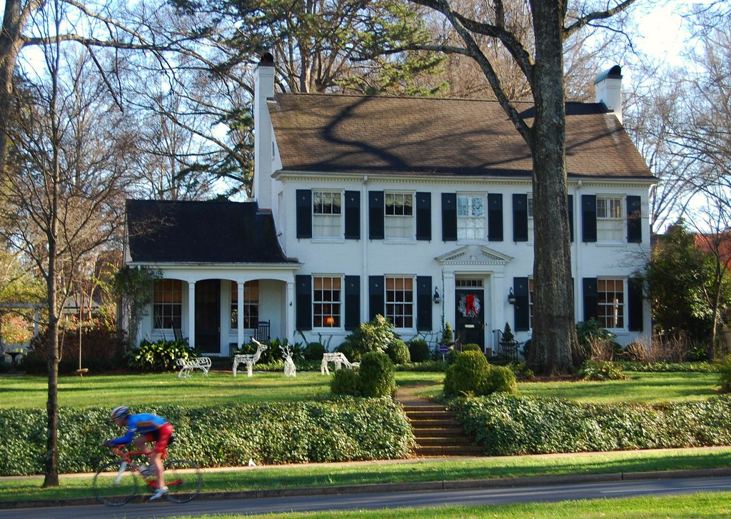 myers park, charlotte, colonial revival architecture