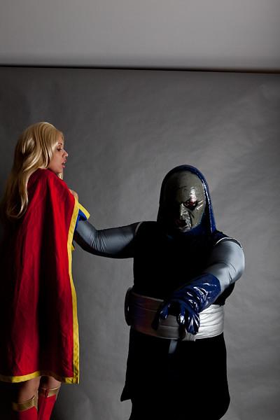 Darkseid Vs Supergirl Cosplay The Smoke Flickr