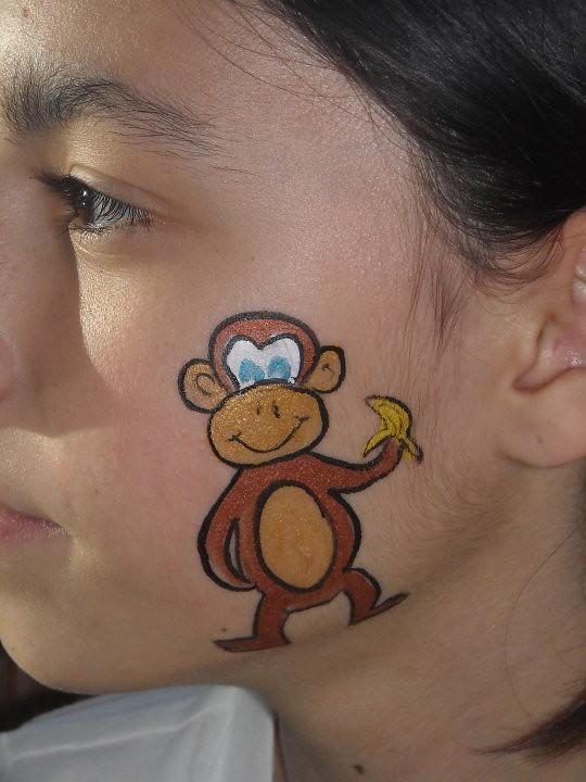 Monkey Face Paint Monkey Face Paint Face Painting In El