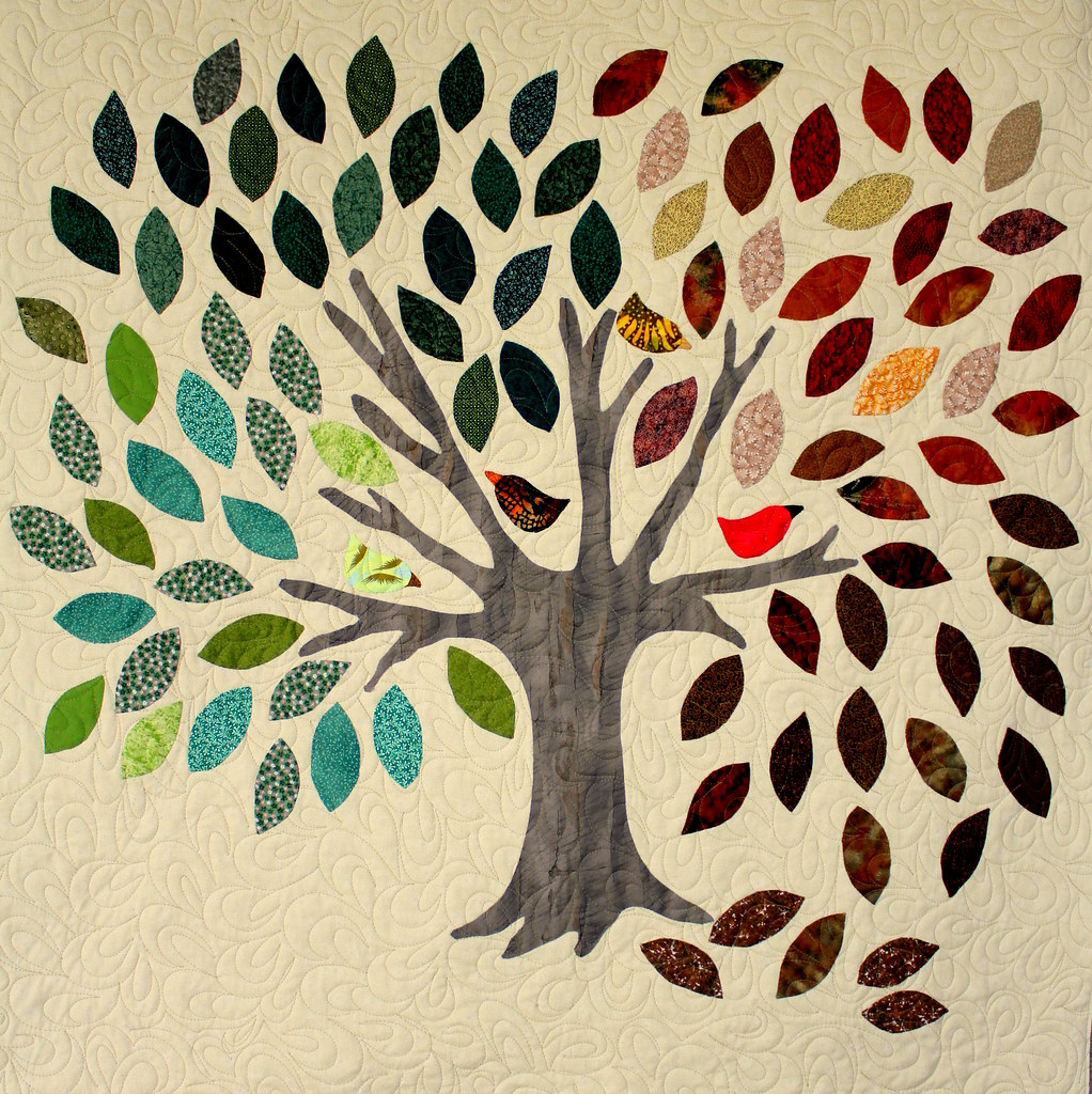 Family Tree Wall Hanging Blogged Www Modernquiltingbyb