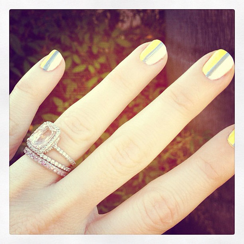 sporty nails with stripes | by ...love Maegan