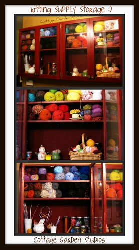 Knitting storage | by Cottage Garden Studios
