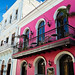 Low Angle View of the Facade of the Baru Restaurant, Old San Juan, Puerto Rico