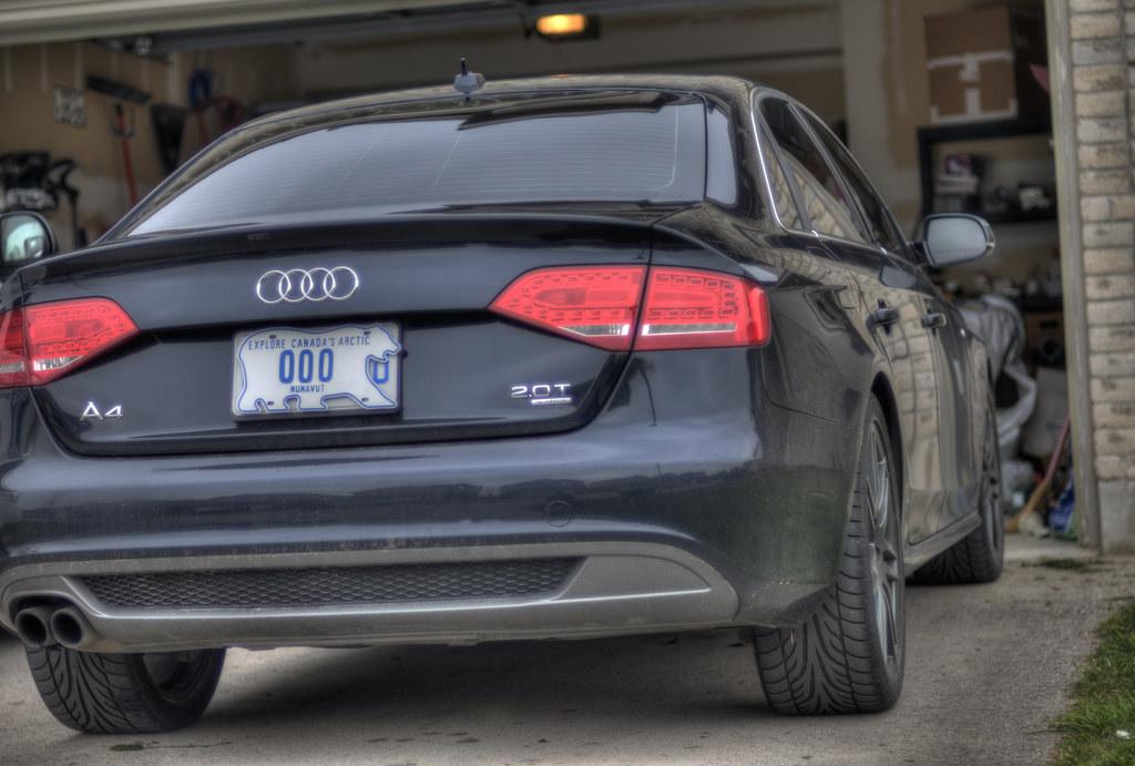 Audi A4 Sline Rear W Nunavut License Plates Nunavut