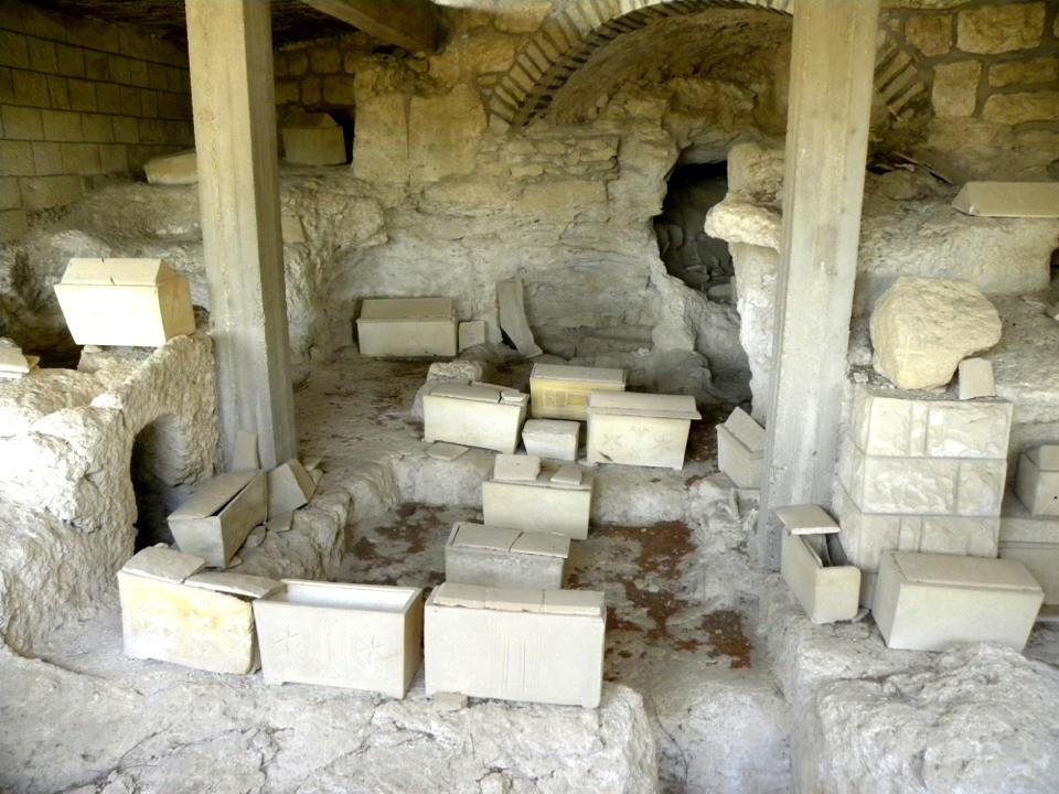 Roman-period ossuaries...