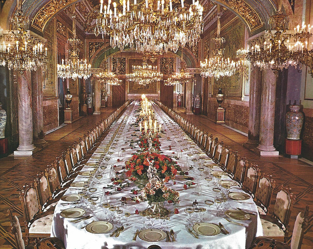 the state dining room at royal palace of madrid spain flickr photo