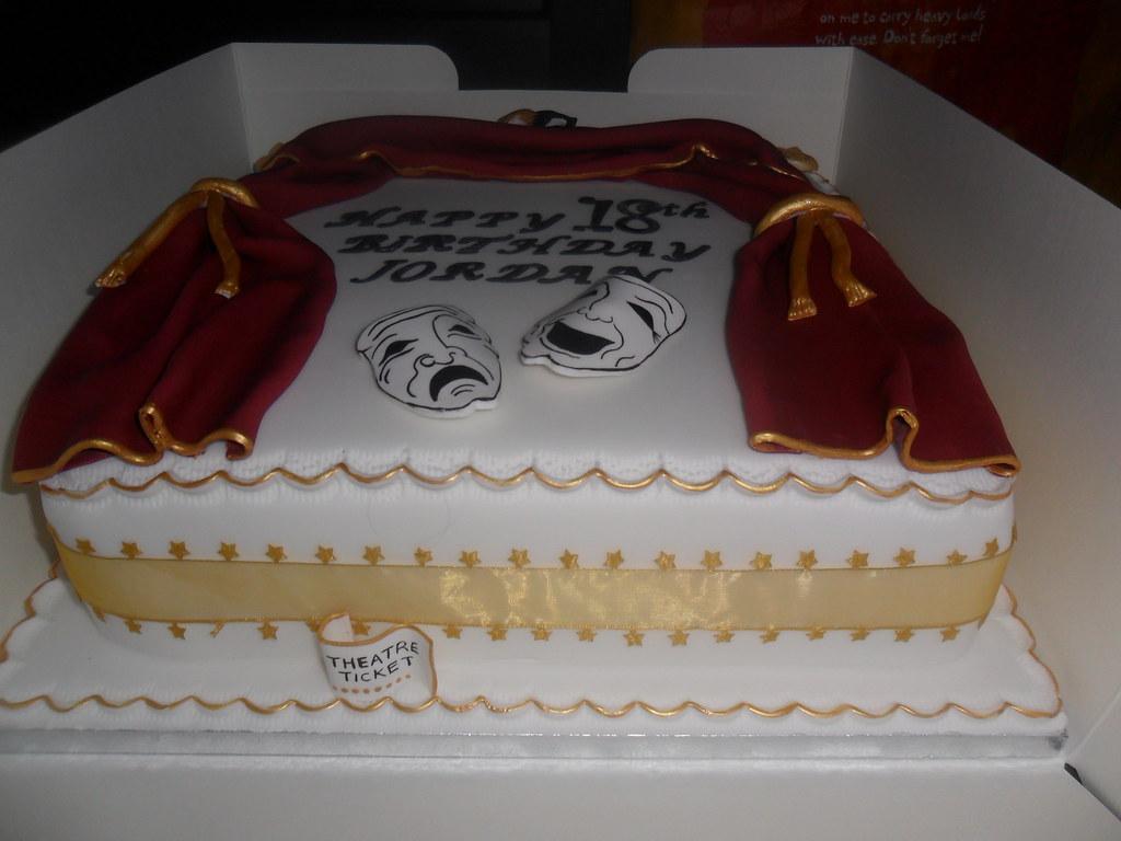 Theatre Tragedy Masks Birthday Cake Everything Hand Made