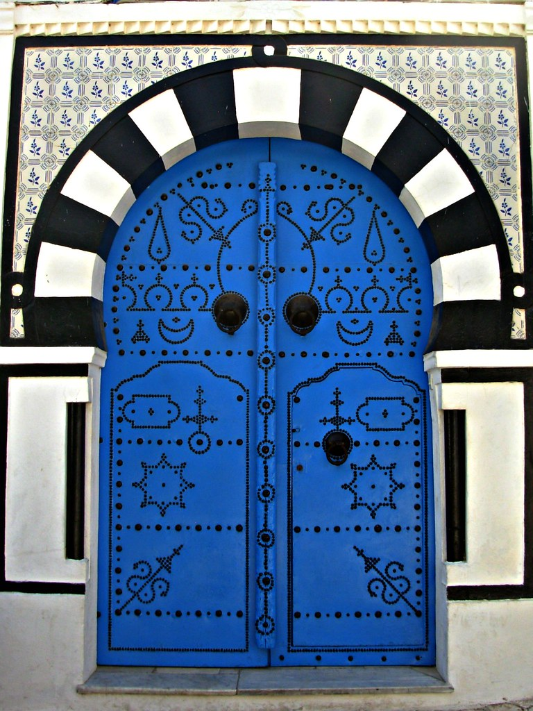Door Sidi Bou Said Tunisia Much Blue And White Over
