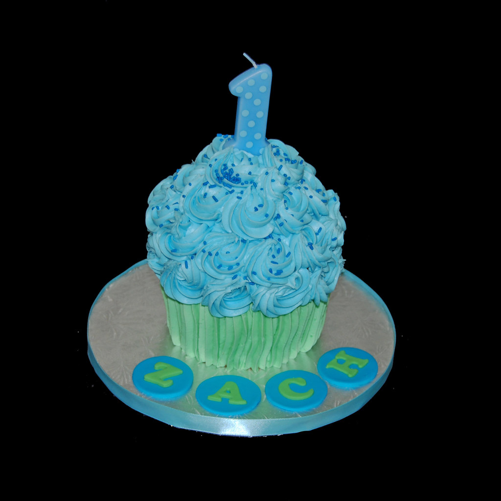 Giant Cupcake First Birthday Cake