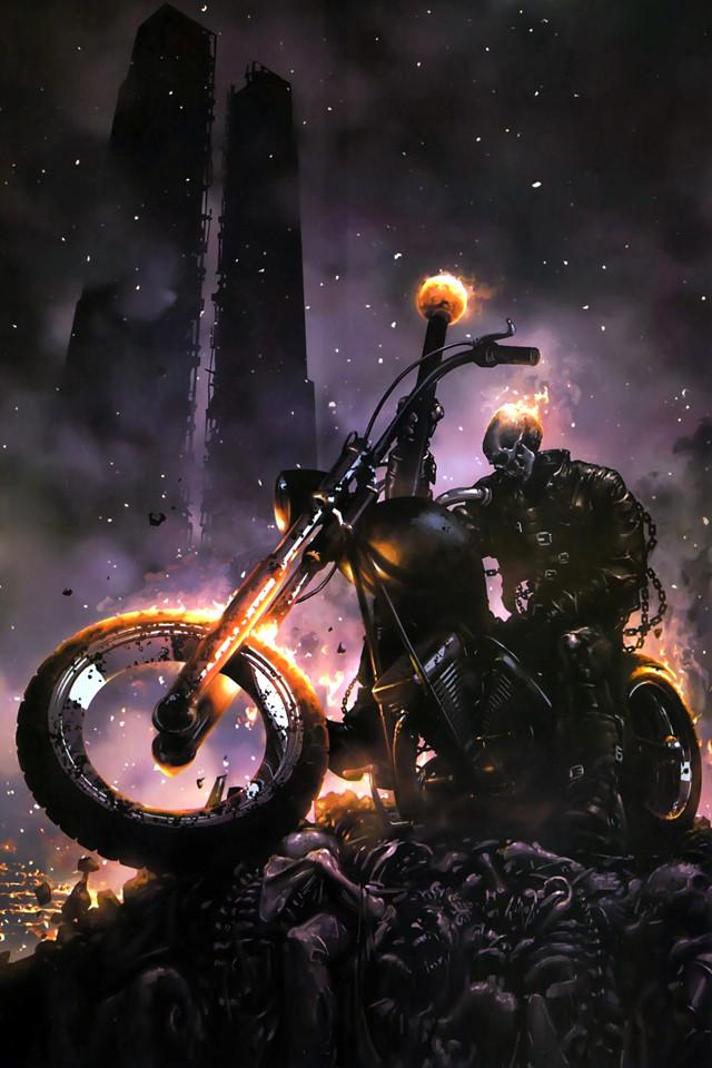 Ghost Rider (lock screen) | Illustration by Clayton Crain ...