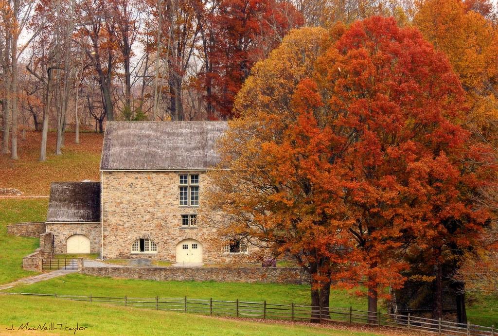 Chester County Autumn | Beautiful historic stone barn ...