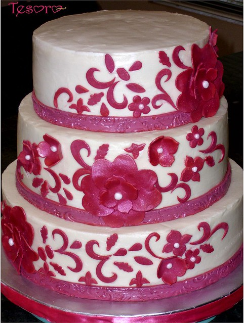 Hot Pink Cake Images : hot pink wedding cake Flickr - Photo Sharing!