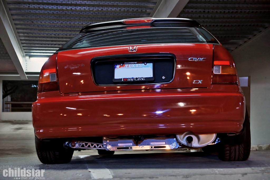 White Honda Civic >> ASR subframe brace installed | Kerry Smith | Flickr