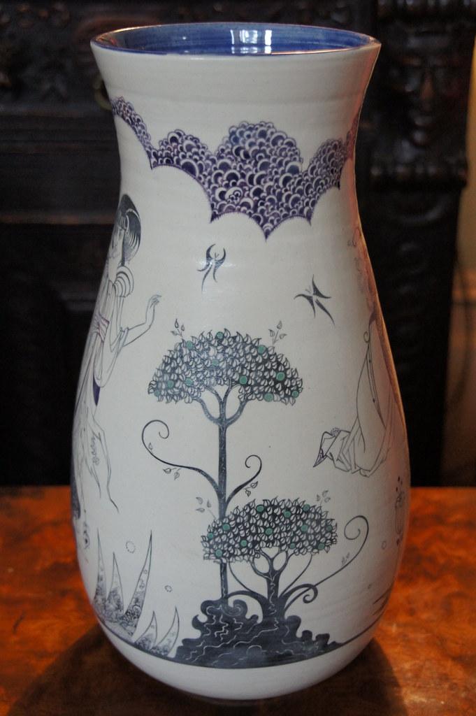 aubrey beardsley designs on a vase original vase hand thr flickr. Black Bedroom Furniture Sets. Home Design Ideas