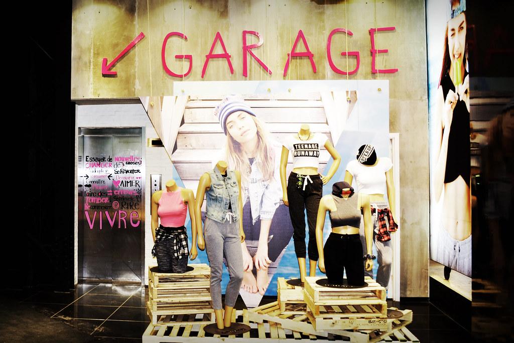 Garage clothing store website