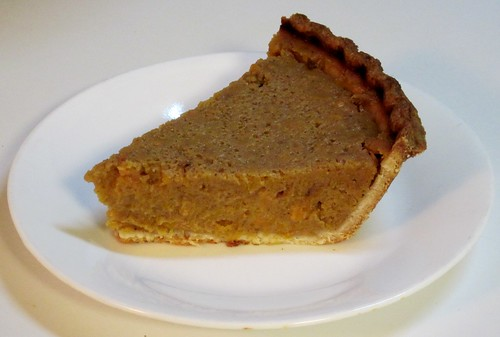 Maple Smoked Pumpkin-Sweet Potato Pie slice | by SaucyGlo