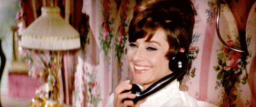 htsam-audrey on the phone | by Rare Audrey Hepburn