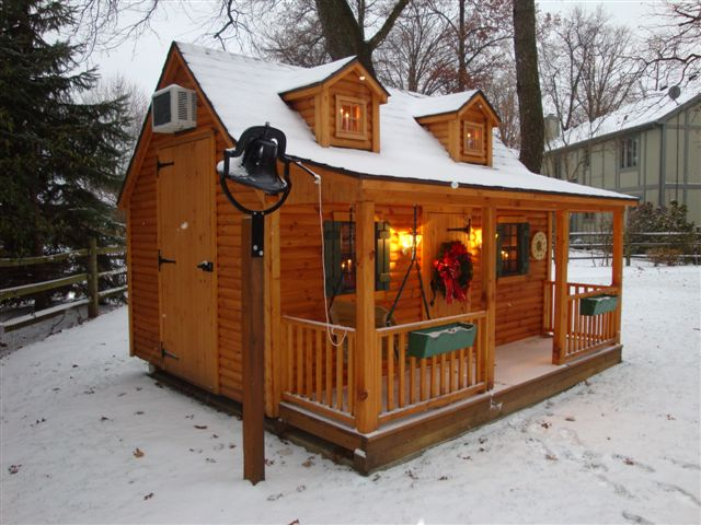 Pine Log Cabin Lovely Winter Setting Pine Log Cabin