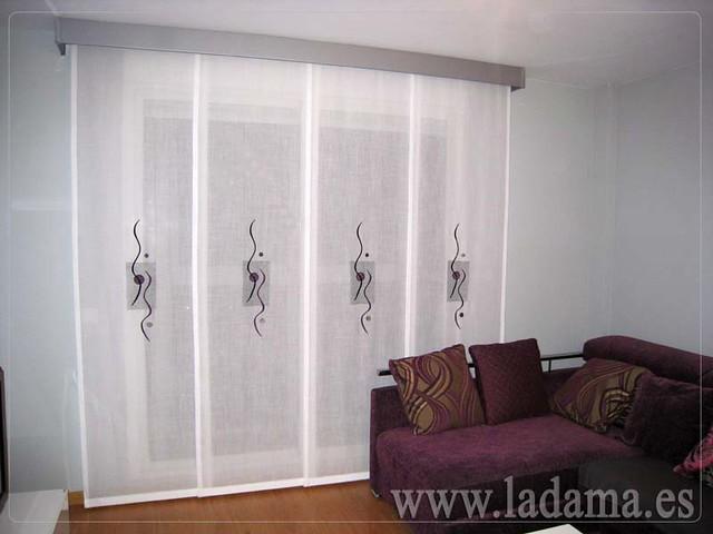 Decoraci n para salones modernos cortinas paneles - Decoracion de comedores modernos ...