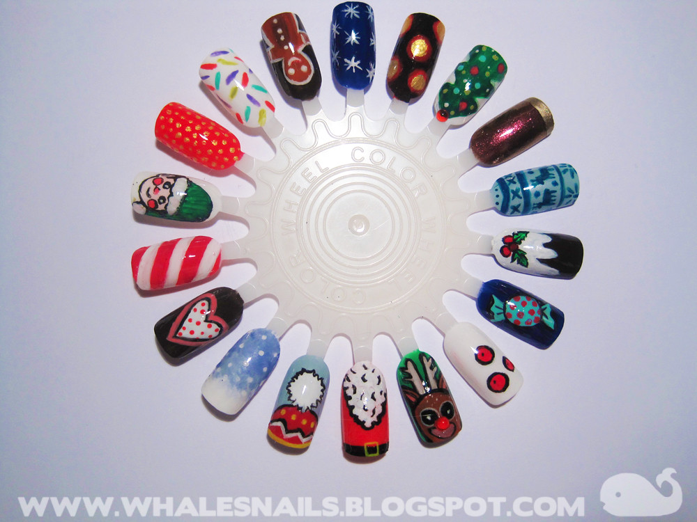Christmas nail art wheel 1 whalesnails flickr prinsesfo Image collections