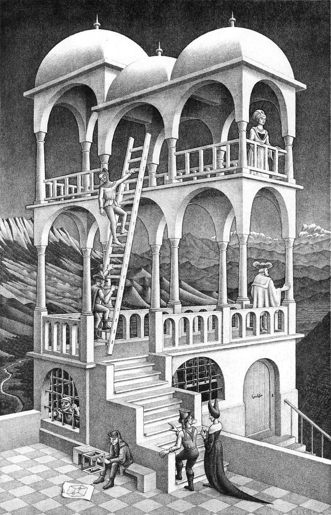 Belvedere, optische Täuschung von M. C. Escher