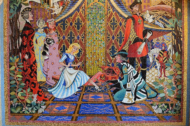 Mural inside cinderella 39 s castle walt disney world for Disney world mural