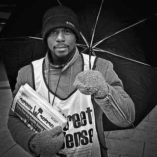 Jaamill Hipps, Selling 'Street Sense', Occupy DC, McPherson Square, Washington, DC | by Gerald L. Campbell