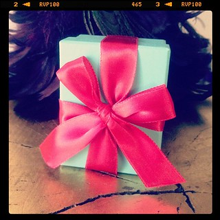 Tiffany box w/ a ted bow from the husband. The first photo I took with my now iPhone this morning. | by ...love Maegan