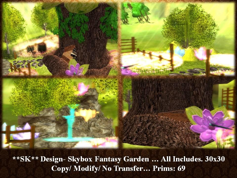 Sk design skybox fantasy garden new prims 69 copy for The garden design sk