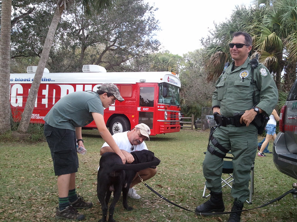 K 9 team with kids k 9 officers cris douglas and boone for Florida fish and wildlife jobs