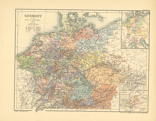 Map page of Section XL Germany at the peace of Westphalia, 1648 from Part XXV of Historical atlas of modern Europe from the decline of the Roman empire : comprising also maps of parts of Asia and of the New world connected with European history | by uconnlibrariesmagic