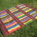 Multicolor Stacked Stripes Quilt