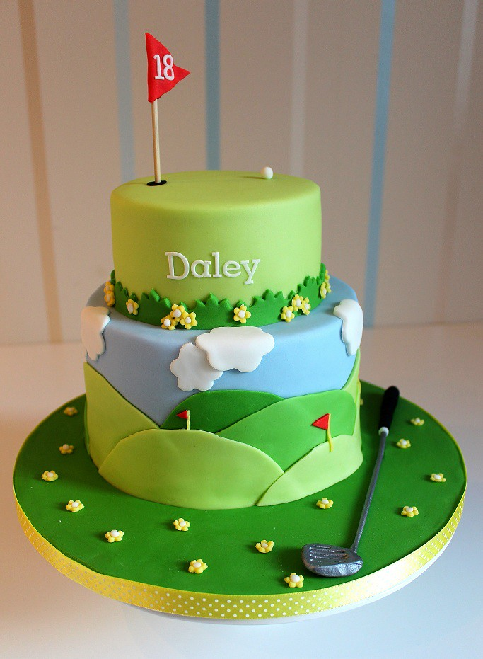 Golf Themed Cake Images : Golf themed cake for my boyfriends birthday I made this ...