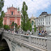 The Triple Bridge is one of the symbols of Ljubljana