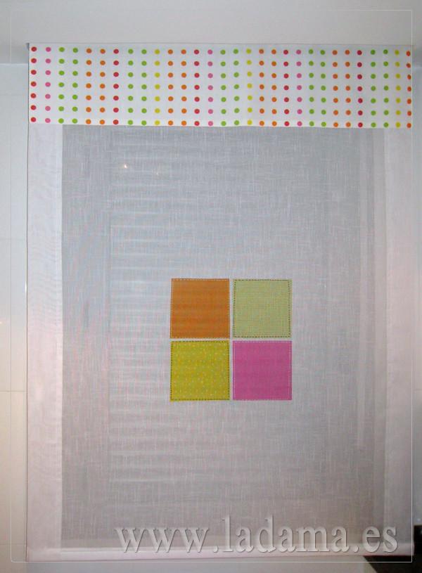 Cortinas para cocina visillos y estores con tejidos color - Tejidos de cortinas ...
