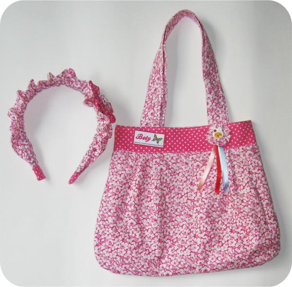 Bolsa De Perola Infantil : Bolsa infantil e tiara ref elizabete medeiros flickr
