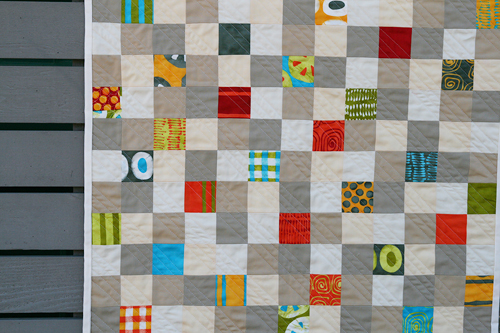A {Tiny} Stitch in Color quilt | by Fresh Lemons : Faith