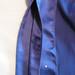Blue silk blouse inside placket