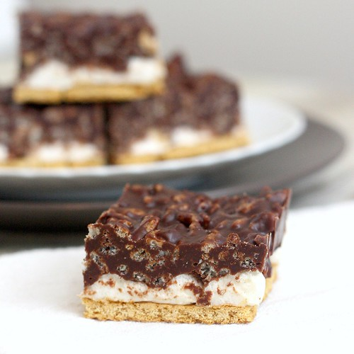 Peanut Butter Crunch S'mores Bars | by Tracey's Culinary Adventures