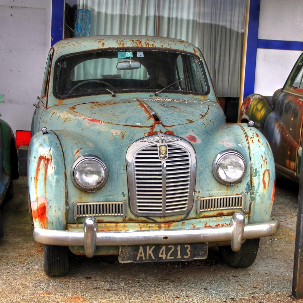 Old Car Austin A40 Somerset Dobson West Coast New Zeal