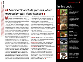 The Art of Photographing Wildlife book sample page 1 | by Cameralabs