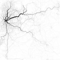 Paths through Madrid