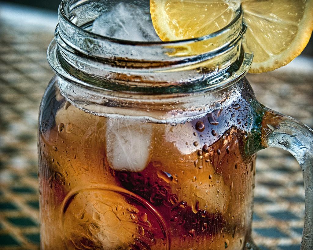 Ice Tea Jar Iced Tea in a Mason Jar