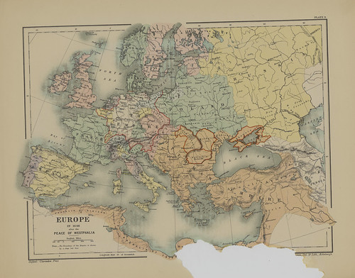 Map page of Section IX Europe after the peace of Westphalia 1648 from Part XI of Historical atlas of modern Europe from the decline of the Roman empire : comprising also maps of parts of Asia and of the New world connected with European history | by uconnlibrariesmagic